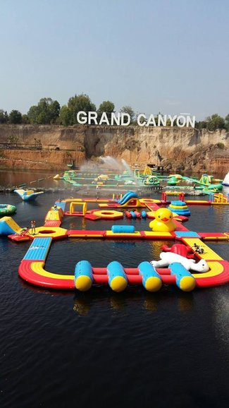 The water park at the Grand Canyon, perfect for an energetic day of adventure!