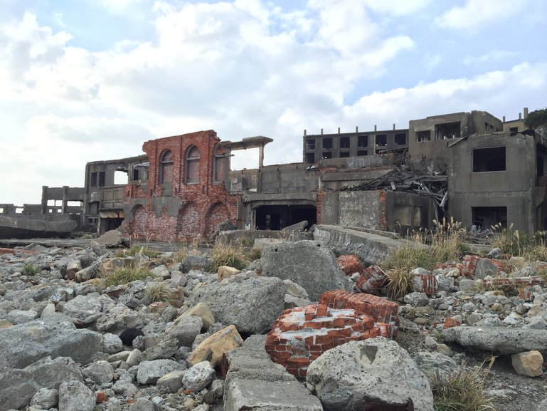Ruins on Gunkanjima Island