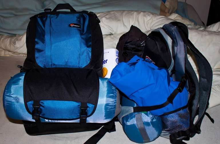 A pair of hiking packs by Gerwin Sturm via Creative Commons