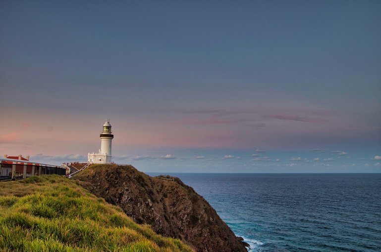 Last light at the Cape Byron Lighthouse