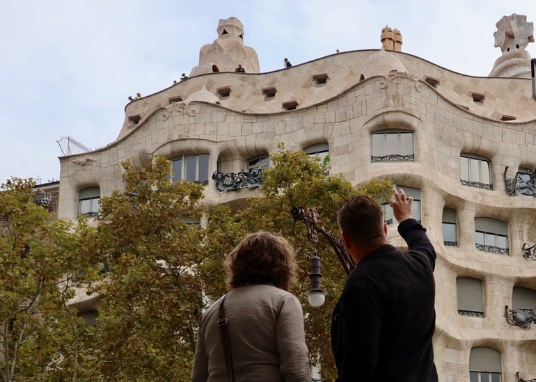 The objects on the top of Casa Mila have been made out of massive Trencadís mosaics.
