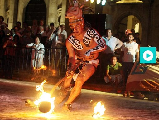 The Maya ball game in Merida