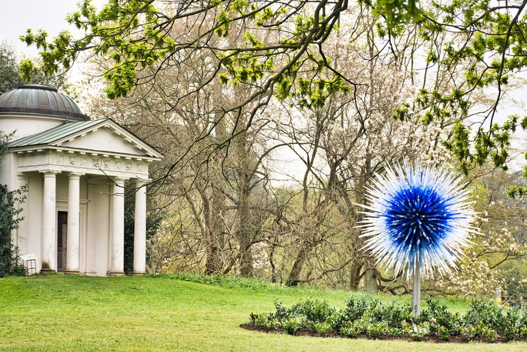 The Sapphire Star is one of the artworks incorporated into the gardens