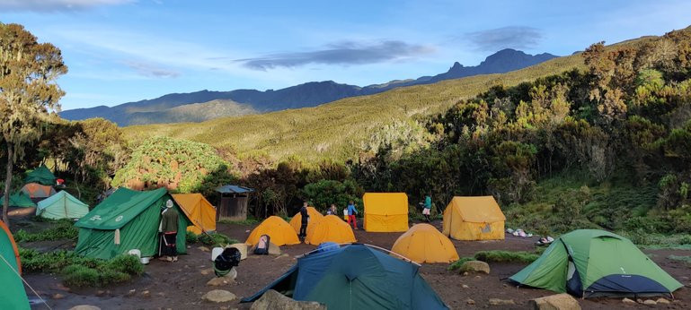Tenta Accommodation through the Machame Route