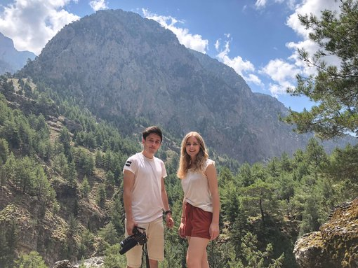 Walking the Samaria Gorge in Crete, Greece