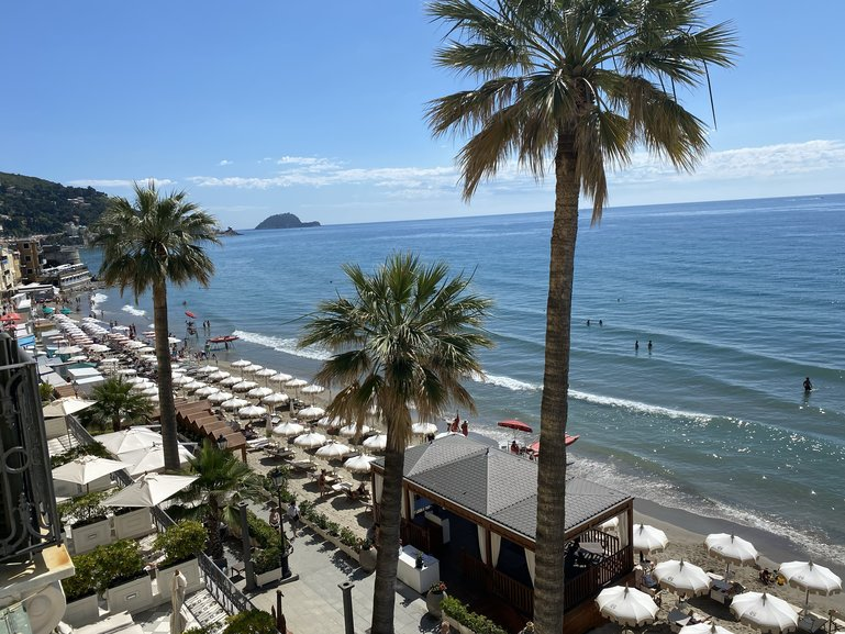 View from the Grand Hotel Alassio