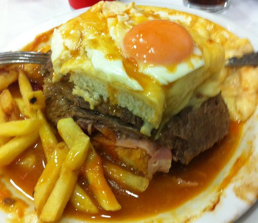 What to eat in Porto, Portugal - a Francesinha!