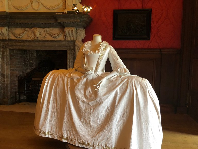 Not only the furniture from the time but clothing as well from the 18th century