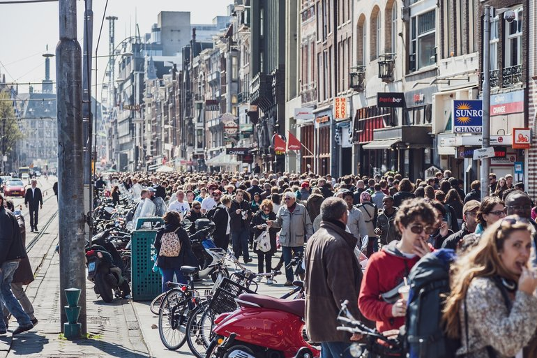 Amsterdam mass tourism