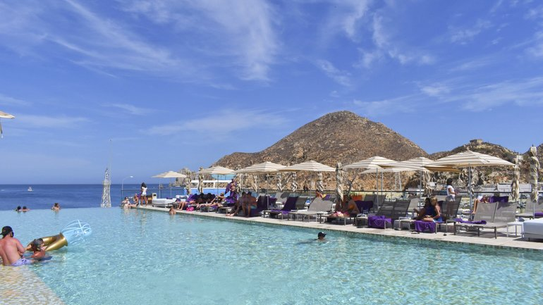 Breathless Resort Pool Overlooking Cabo Bay