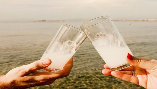 Tsipouro and Ouzo the most famous traditional spirits in Greece.