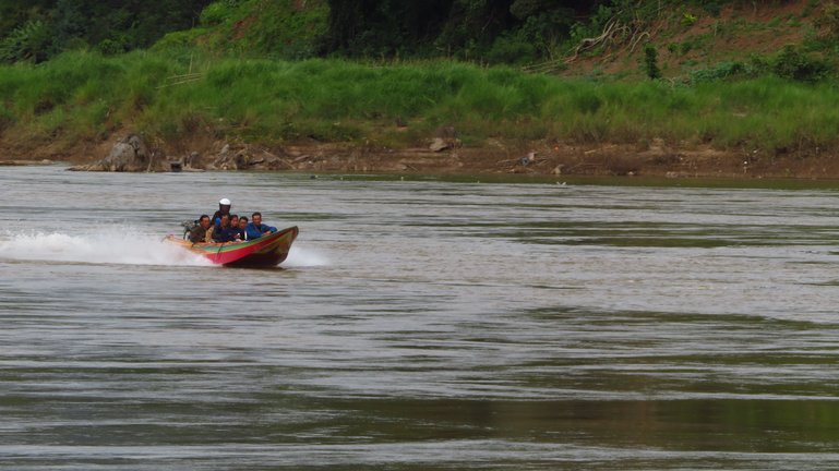 Speedboat on the Mekong, near Huay Xai