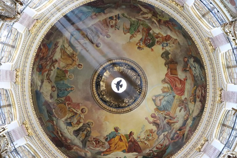 Church Ceiling at Saint Isaac Cathedral