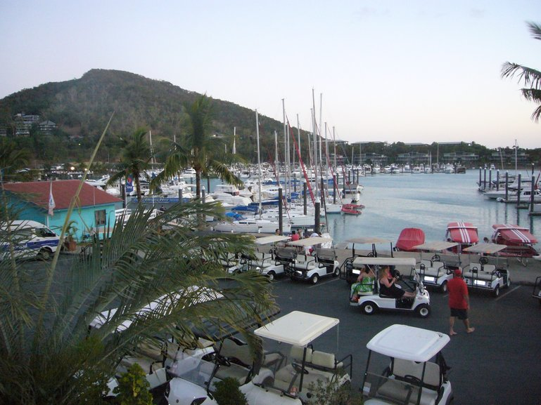 Hamilton Island marina view from the restaurant