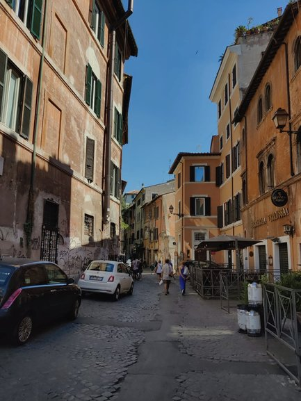 A typical street in Trastevere
