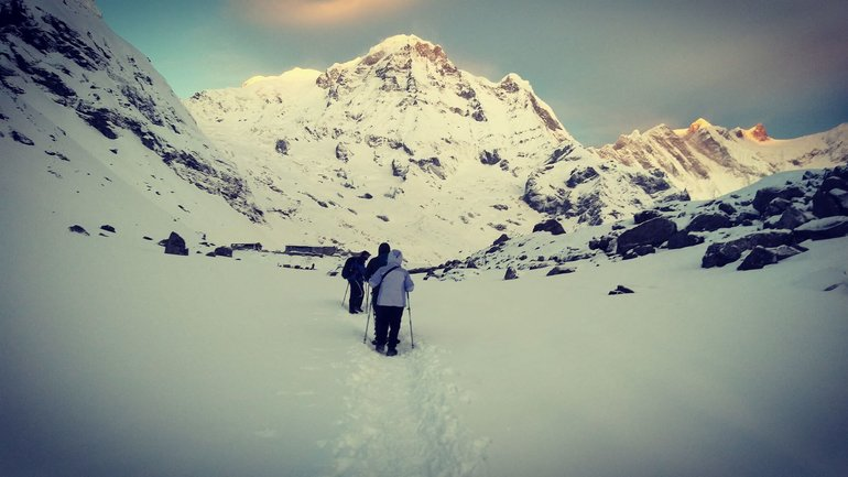 One the way to Annapurna Base Camp