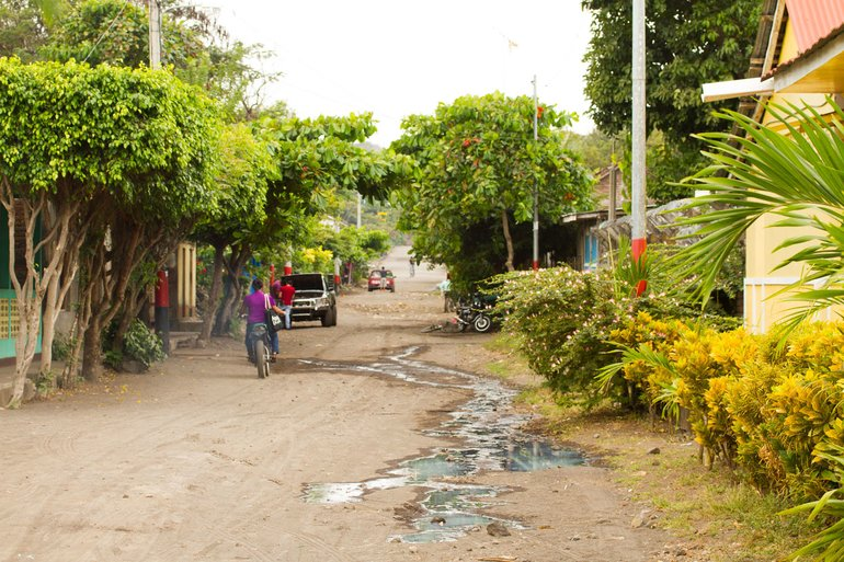 Nicaragua's Roads within Villages