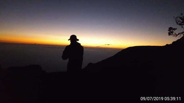 Sunrise at Summit Mount Gede Pangrango Bogor West Of Java