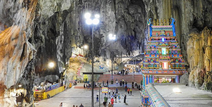 Interior of the Batu Caves