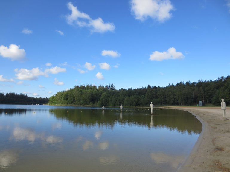 Heerderstrand, the beach and lake  surrounded by forest in Heerde, the Netherlands