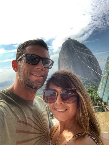 Brady and Bianca at Pao de Acucar