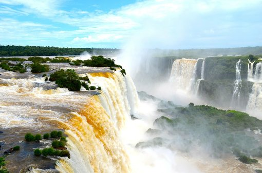 Cross the border at Iguazu Falls