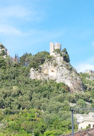 The Torre dello Ziro, a destination for hikers in the valley between the territories of Scala and Ravello, above Amalfi