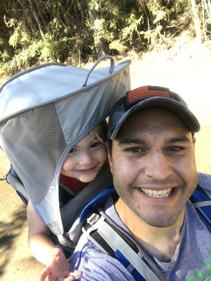 Taking out the Osprey baby carrier backpack