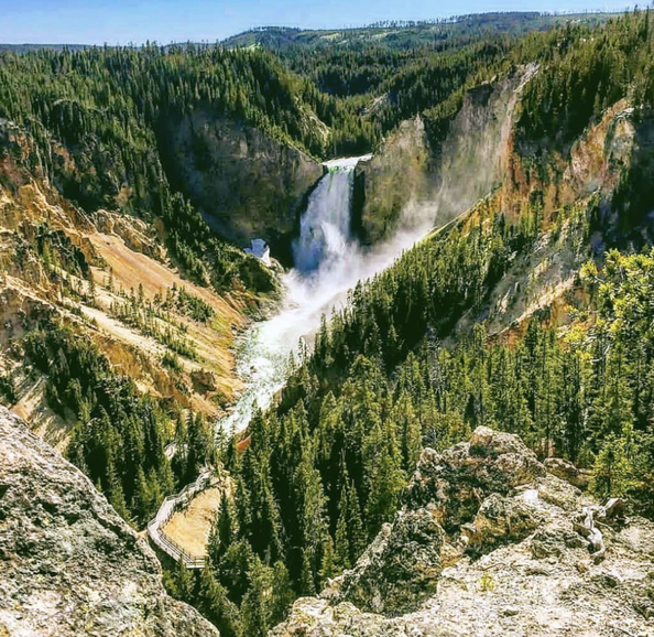 The Upper Falls of Yellowstone
